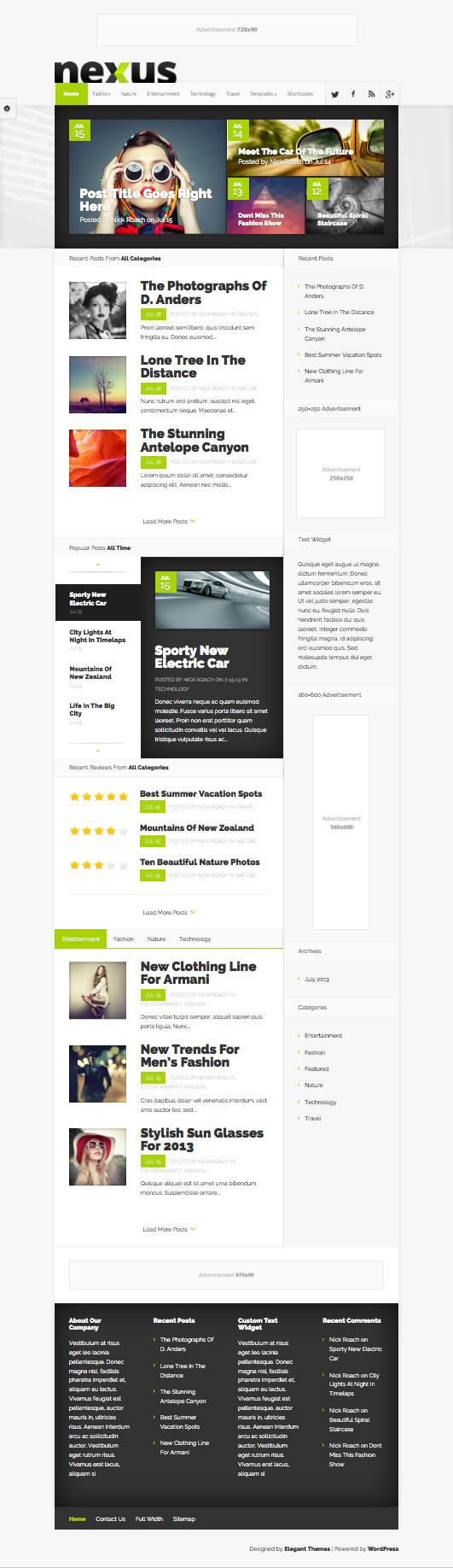 Nexus WordPress Drag & Drop Homepage Builder Theme