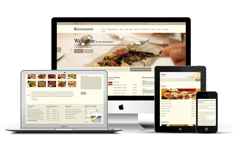 Restaurante Responsive WordPress Online Booking Theme