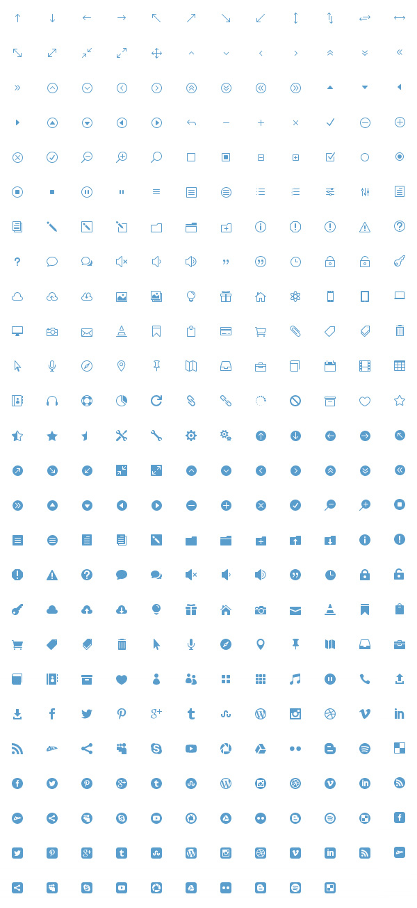 310 Best Free Icons