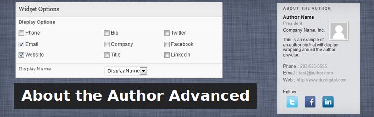 Advanced Author List: