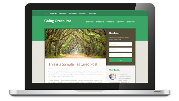 Going Green Pro WordPress Responsive Theme