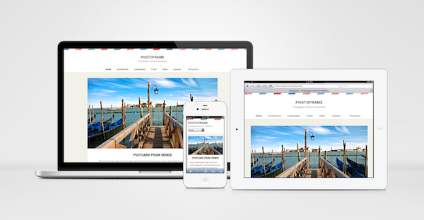 PhotoFrame Responsive WordPress Photography Theme