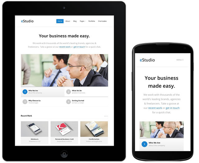 eStudio Responsive WordPress Businesses Theme