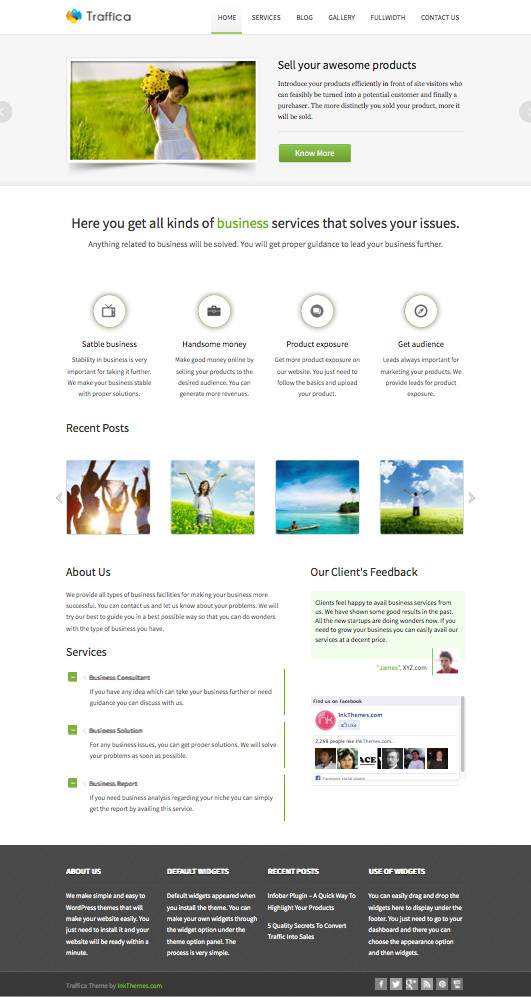 Traffica WordPress Multiple Business Service Theme