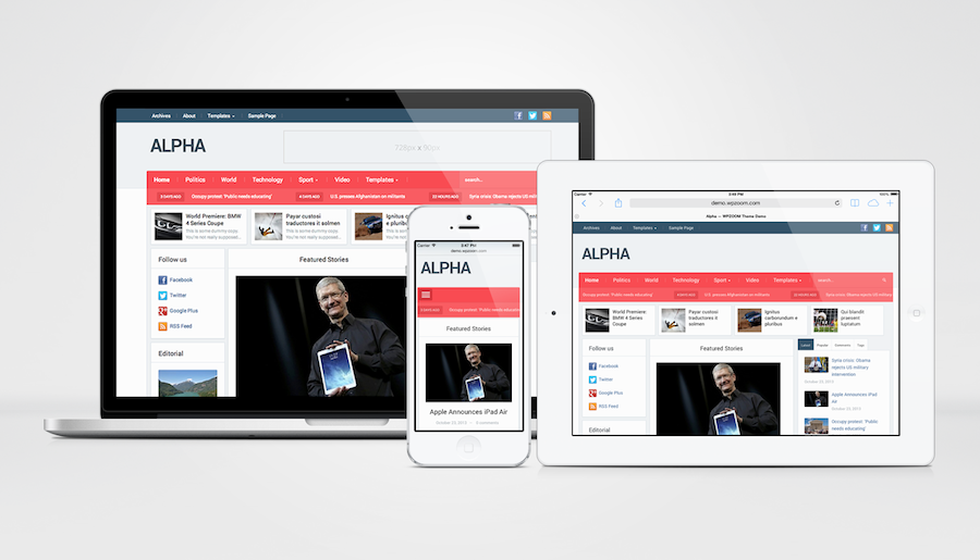 Alpha Responsive Newspaper Theme – WP Chats