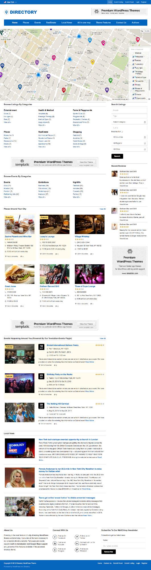 Directory WordPress Multipurpose Listing Theme