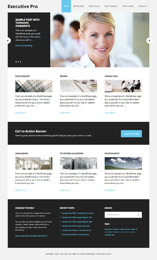 Executive Pro WordPress Business Theme