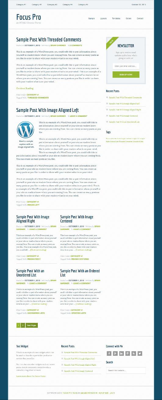Focus Pro WordPress Theme