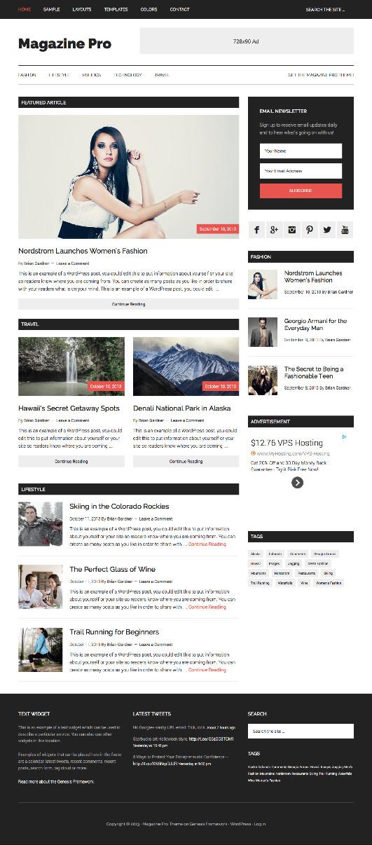 Magazine Pro Responsive WordPress Mag Theme