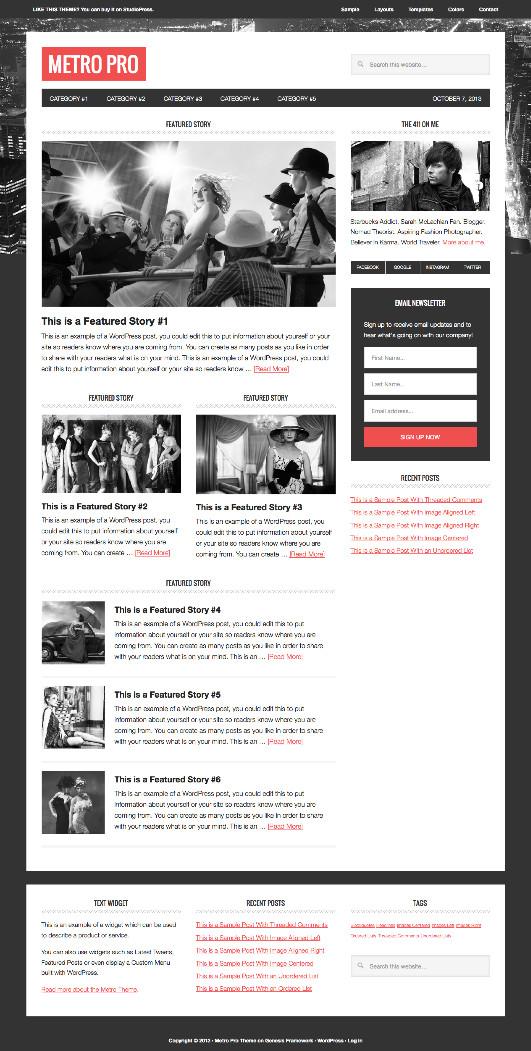 Metro Pro WordPress Modern Magazine Theme