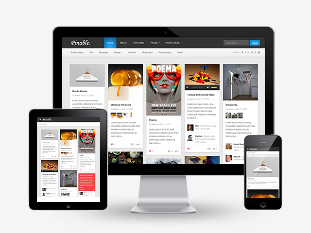 Pinable Responsive Pinterest Theme