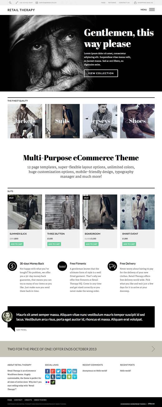 Retail Therapy WordPress Multipurpose eCommerce Theme