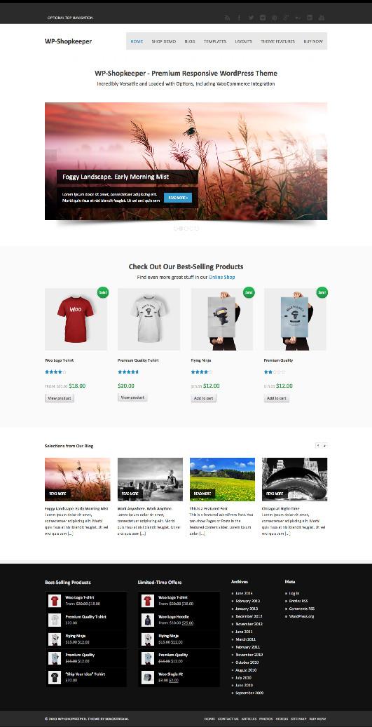 WP Shopkeeper WordPress eCommerce Theme