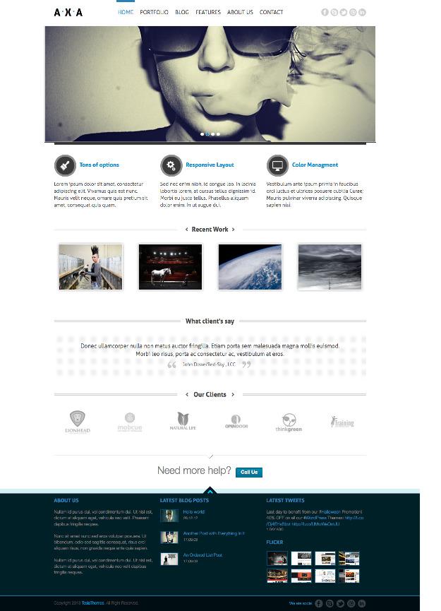 AXA WordPress Marketing Theme – WP Chats