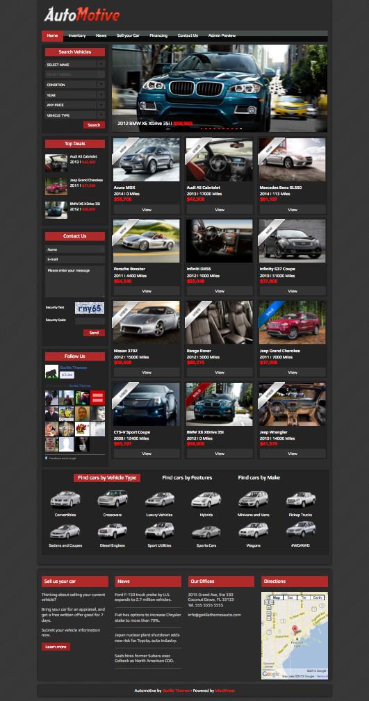 Automotive WordPress Car Dealerships Theme