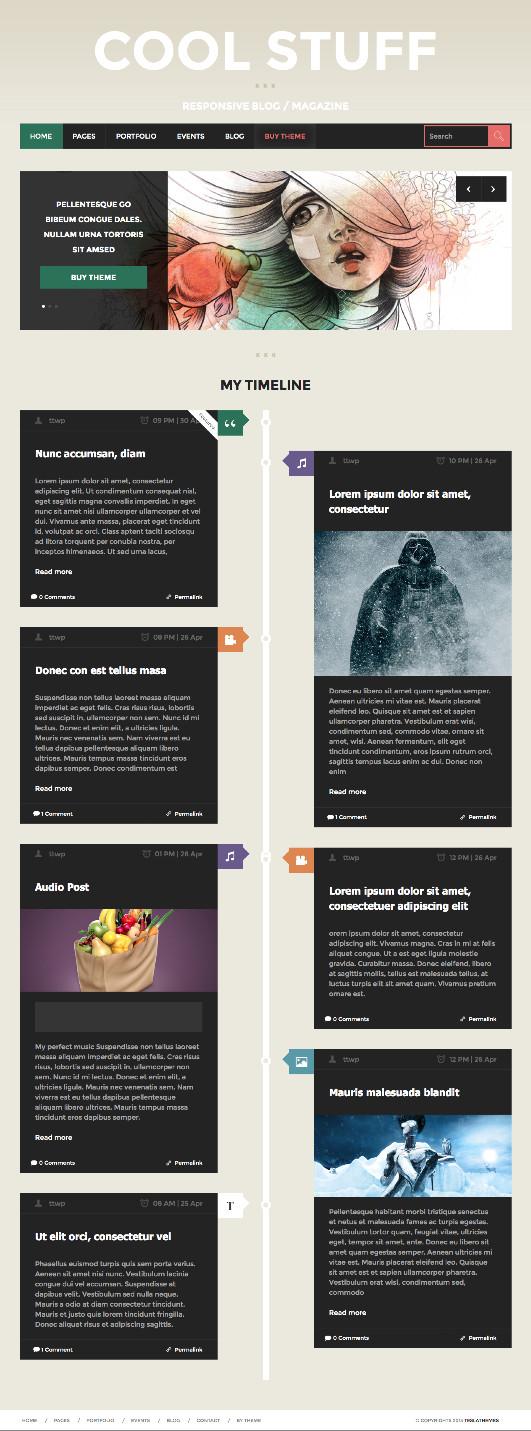 CoolStuff WordPress Bold Magazine Theme
