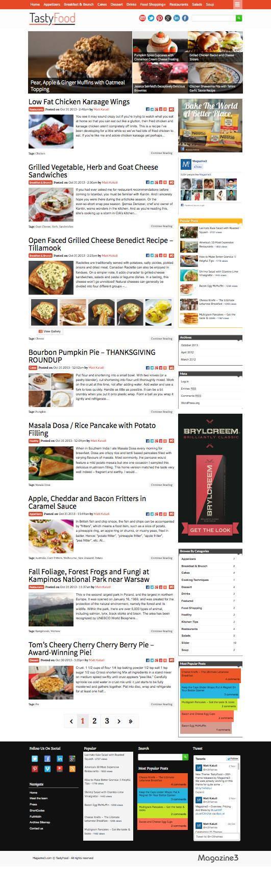 TastyFood WordPress Cooking Theme