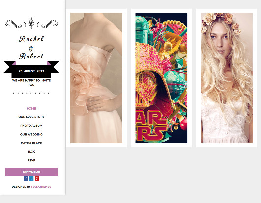 Wedding Day - WordPress Marriage Ceremony Theme