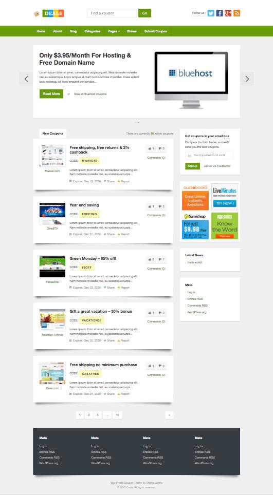 Deals WordPress Coupon Site Theme
