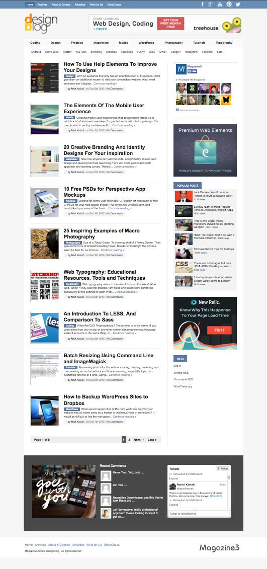 DesignBlog WordPress Tech Magazine Theme
