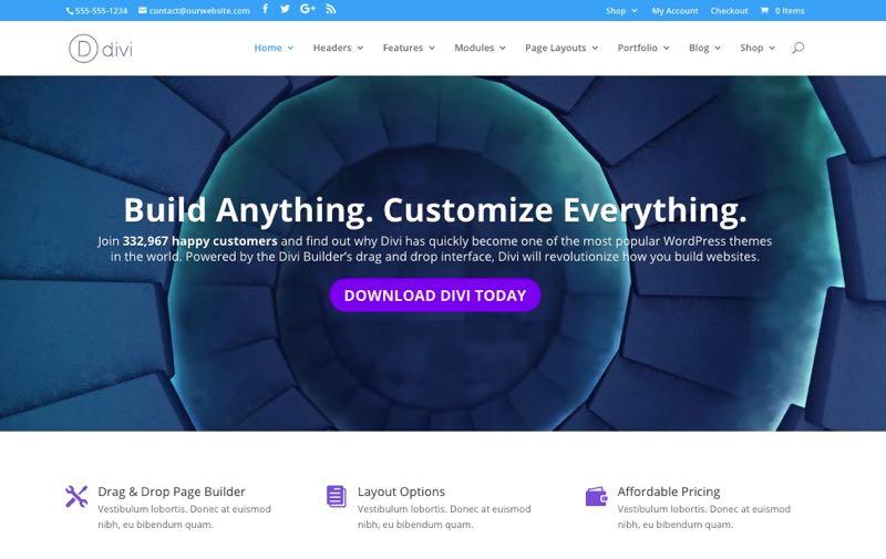 Divi WordPress Theme Review & Premade Layouts