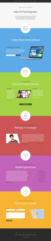 Freelancer Responsive WordPress One Page Theme