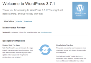 What's New With WordPress 3.7.1?