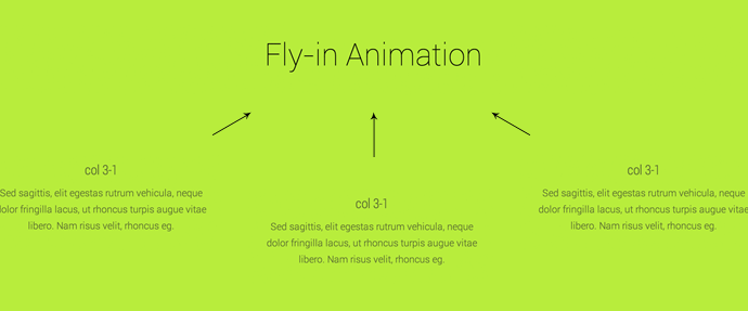 Fly-in Animation Theme