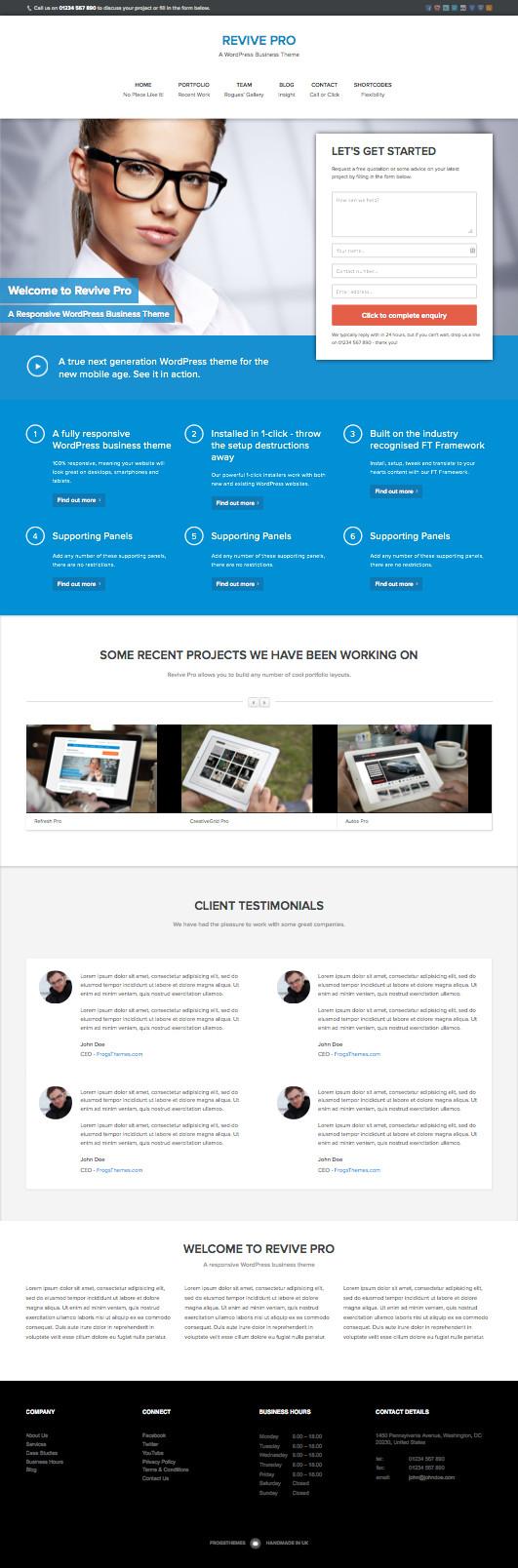 Revive Pro Responsive WordPress Business Theme