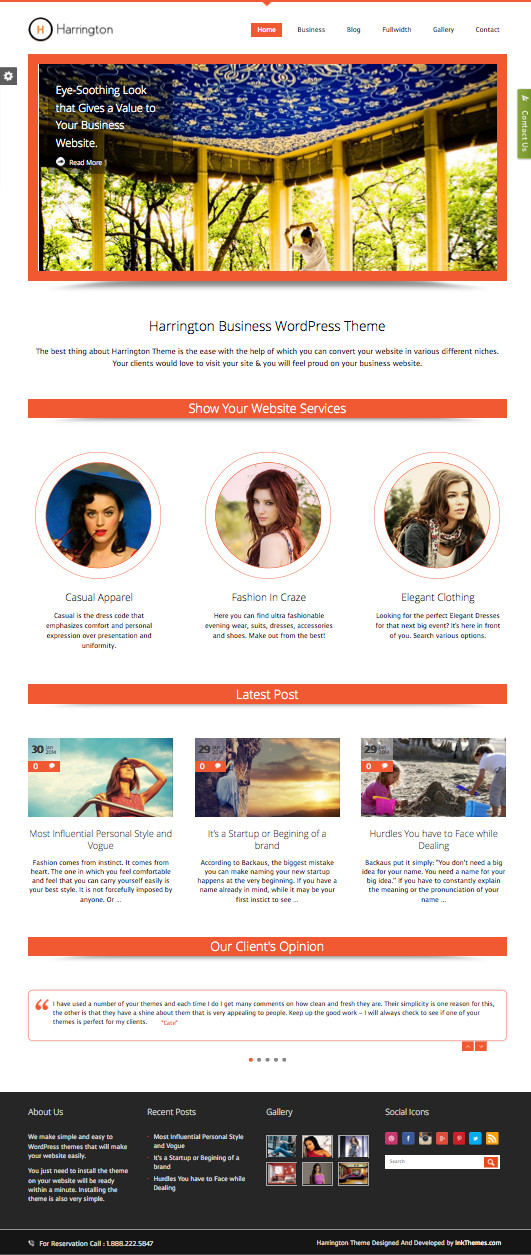 Harrington WordPress Business Theme