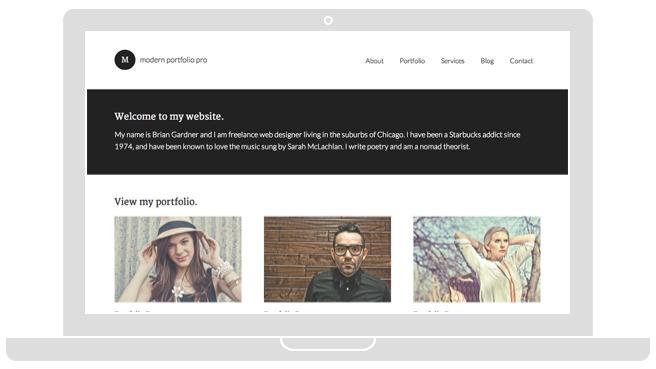 Modern Portfolio Pro Freelancers Theme - WPchats.com