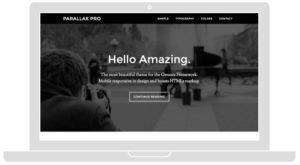 Parallax Pro – Parallax Effect Web Design & HTML5 Markup Theme