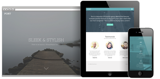 Port WordPress Parallax Home Page Theme
