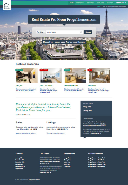Real Estate Pro WordPress Property Theme