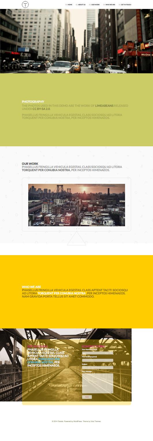 Telesis Parallax Effect Business Theme – Wpchats.com