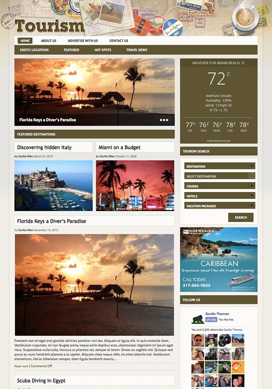 Tourism WP Travel Agencies Theme – WPchats.com