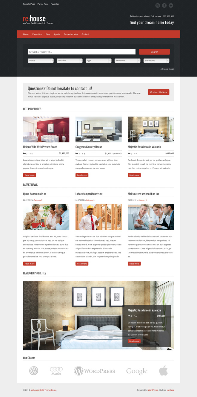 rehouse Real Estate Property Listing Theme