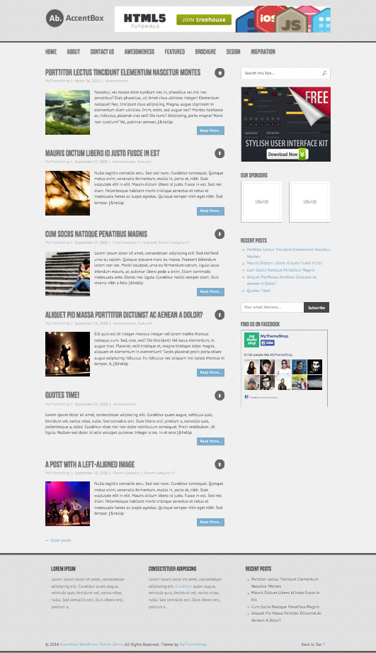 AccentBox Free Responsive WP Blog Theme