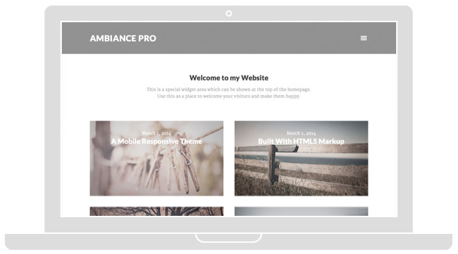 Ambiance Pro Responsive Photography Theme