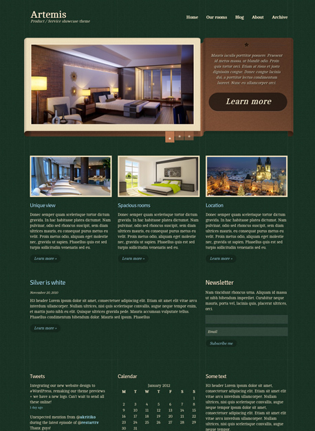 Artemis WordPress Product Service Theme