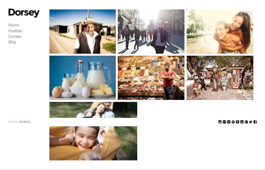 Dorsey WordPress Photographers Theme