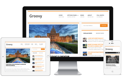 Groovy Responsive Free WordPress Bloggers Theme