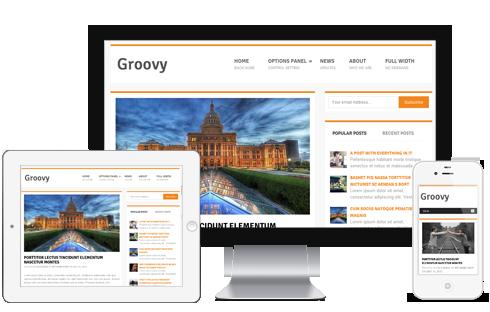 Groovy Responsive Free WordPress Bloggers Theme