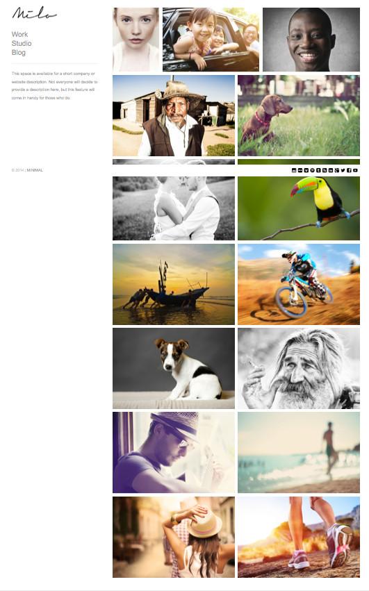 Milo Slideshow Portfolio Galleries Theme