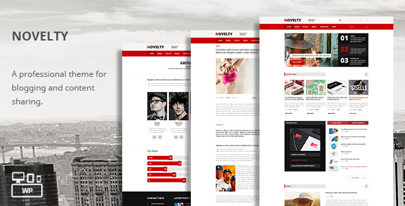 Novelty Responsive News Sharing Theme