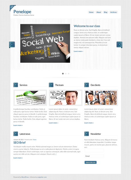 Penelope Business Product Service Theme