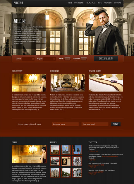 Philoxenia WordPress Hotel Business Theme