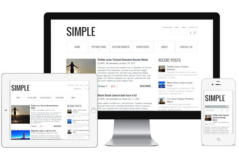 Simple Fluid Layout Responsive Blog Theme