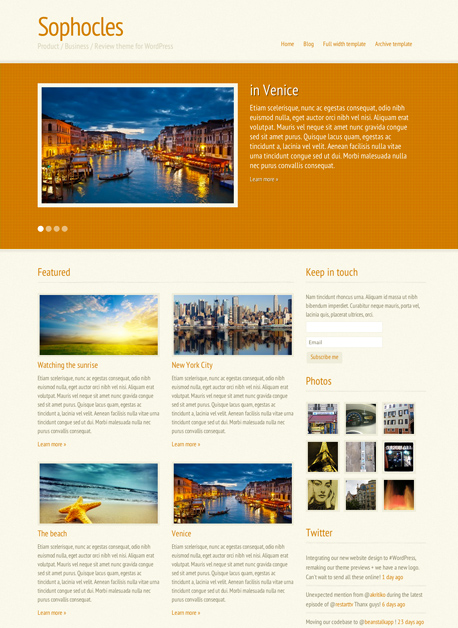 Sophocles Product Review Theme