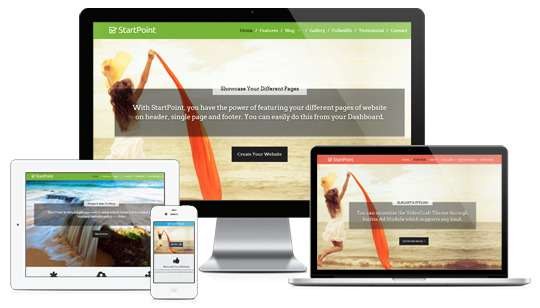 StartPoint Responsive One Page Portfolio Service Theme